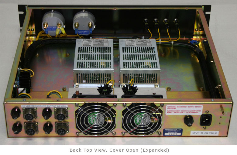 TR-12VDC Rack Mount Power Supplies back top view