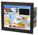 Fanless industrial PC with 19 inch touch screen