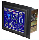 Industrial panel PC with LCD touch screen