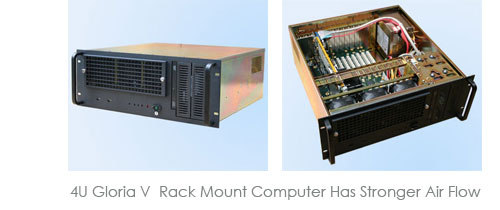 4U Gloria V  Rack Mount Chassis with Stronger Air Flow