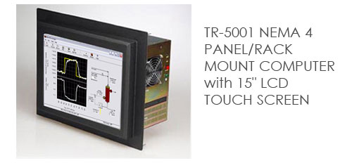 TR-5001 NEMA 4 PANEL/RACK MOUNT COMPUTER with 15 LCD TOUCH SCREEN