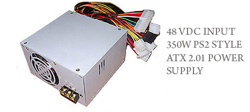 48 VDC INPUT 350W PS2 STYLE ATX 2.01 POWER SUPPLY