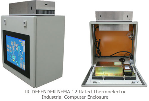 TR-DEFENDER NEMA 12 Rated Thermoelectric Industrial Computer Enclosure