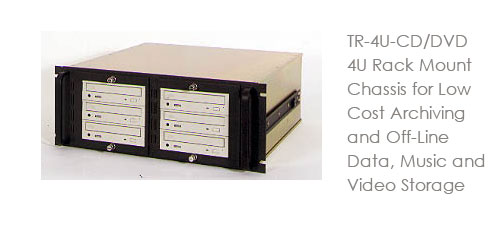 TR-4U-CD/DVD 4U Rack Mount Chassis for Low Cost Archiving and Off-Line Data, Music and Video Storage