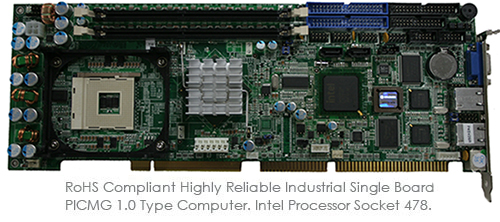 RoHS Compliant Highly Reliable Industrial Single Board PICMG 1.0 Type Computer