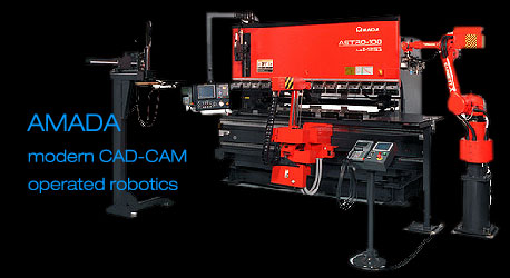 CAD-CAM operated robotics with CNC facilities - metal parts fabrication