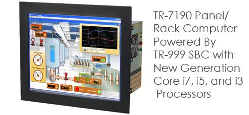 TR-7190 Panel Rack Mount Computer With 19 inch Industrial LCD